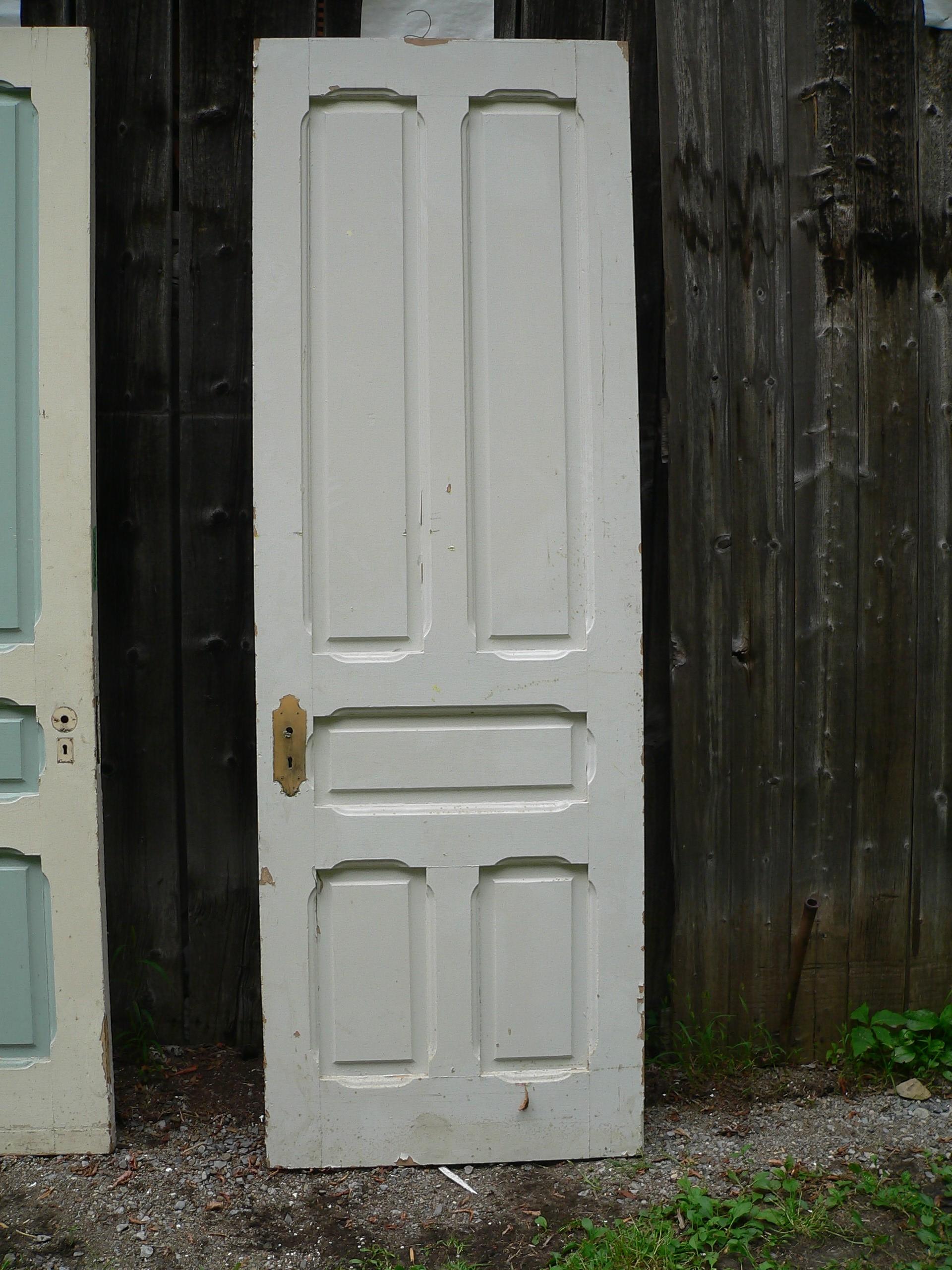 Porte antique a caisson # 6486