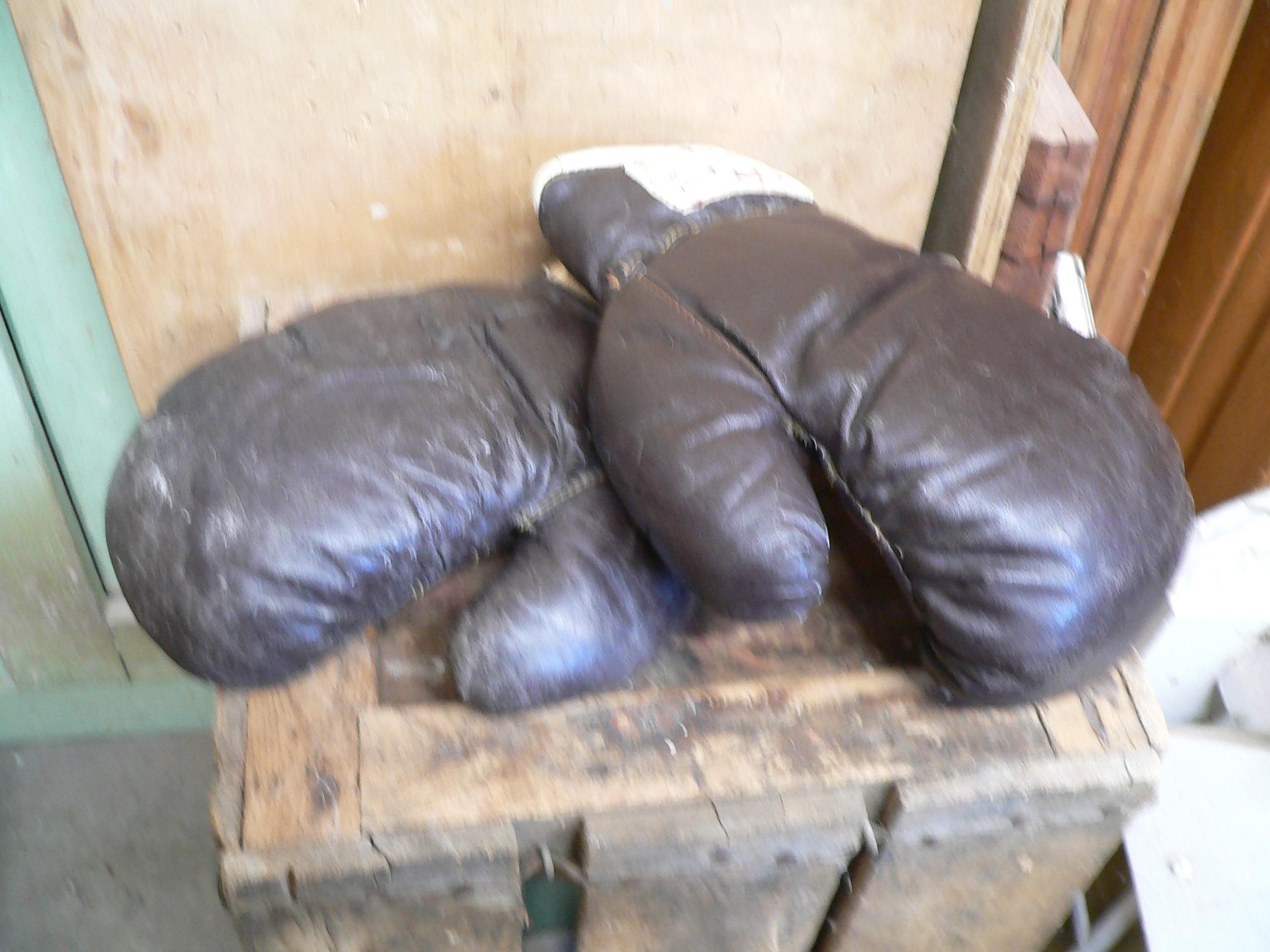 Belle paire de gant de boxe antique # 6517