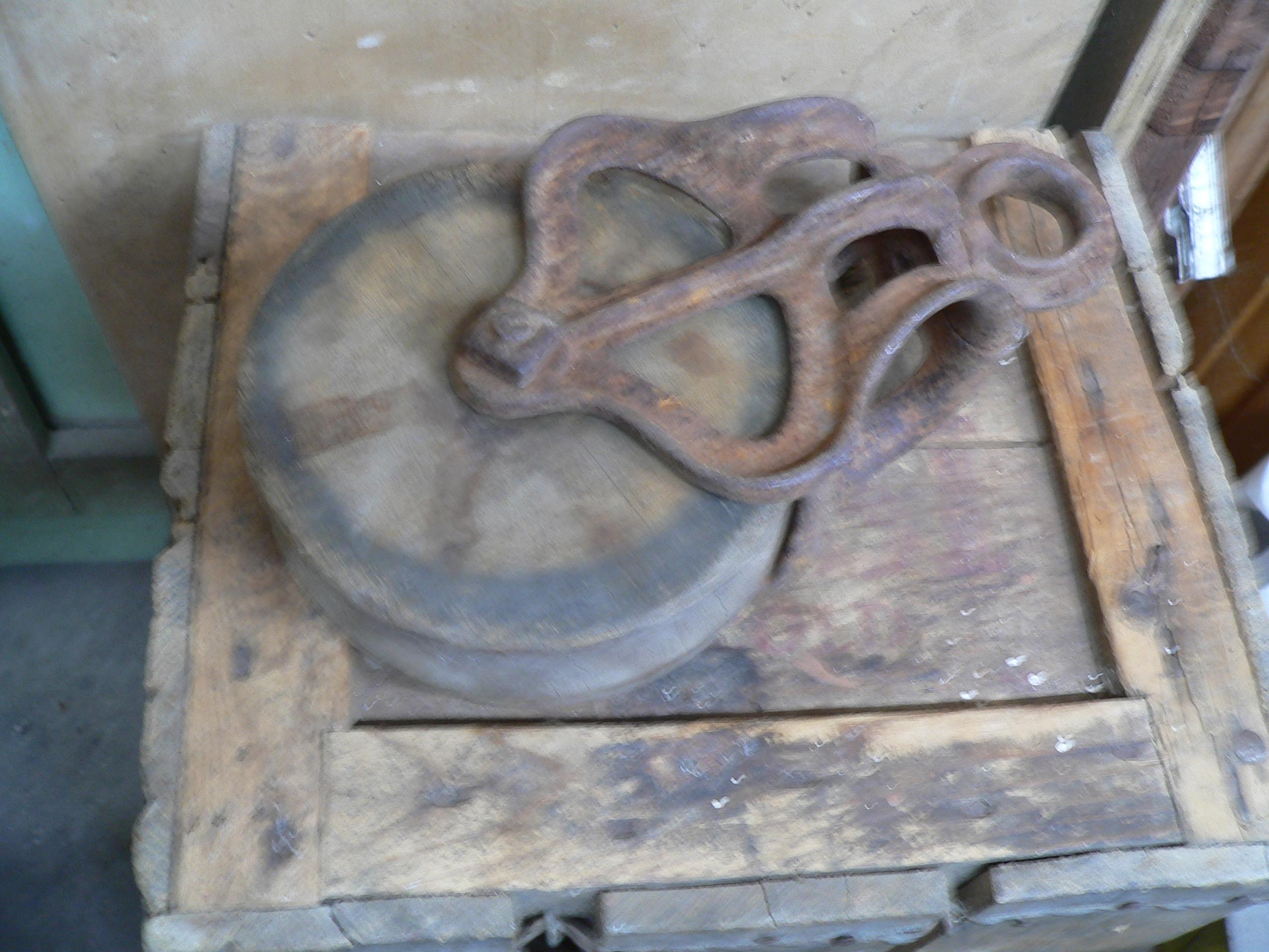 Poulie antique # 6530