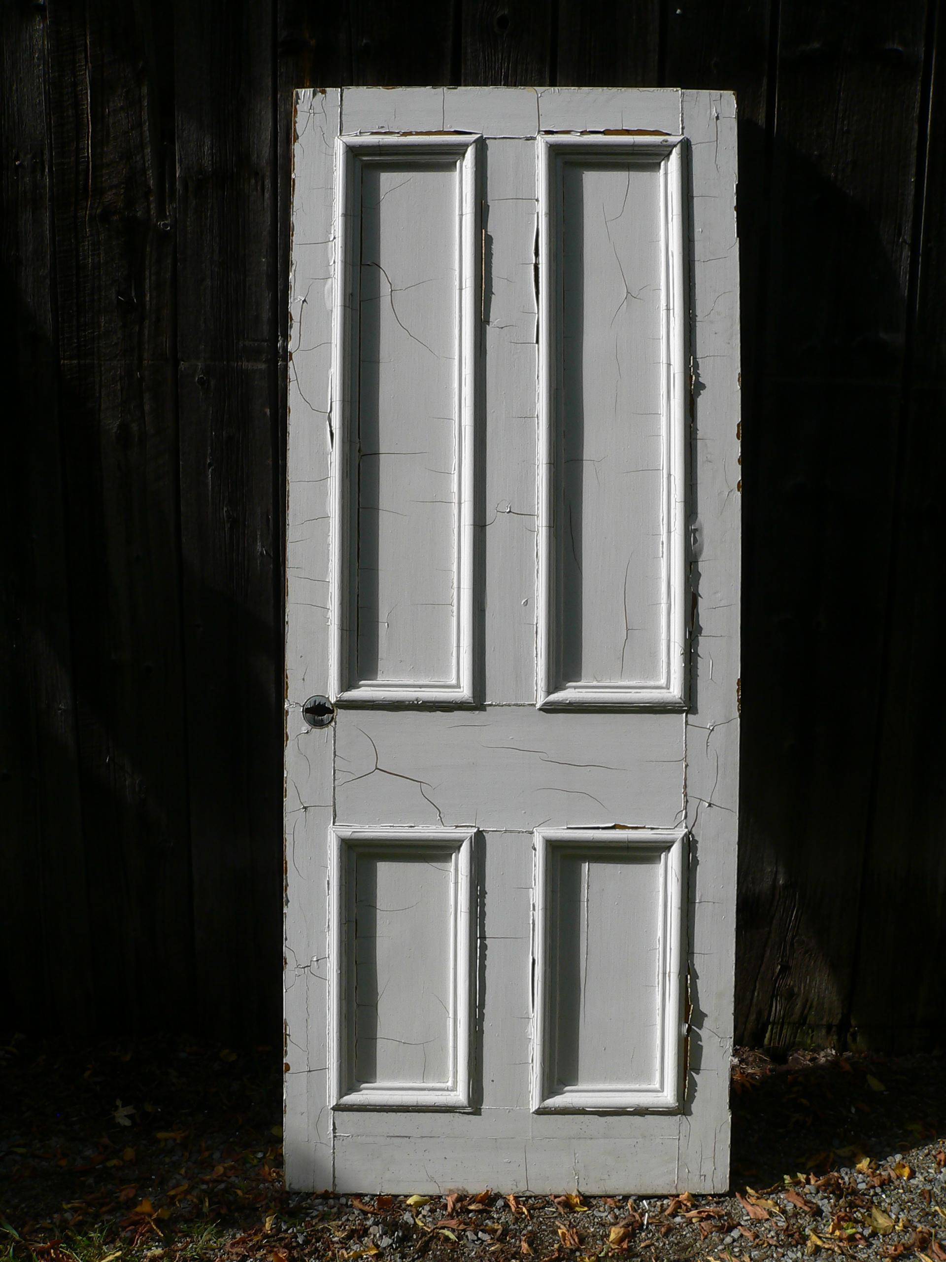 Porte antique a caisson # 6594