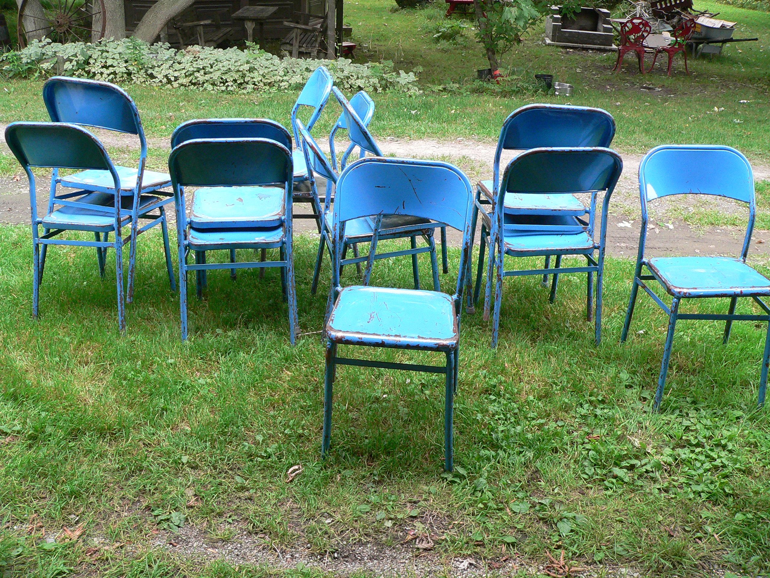 Lot de 12 chaise vintage # 6644