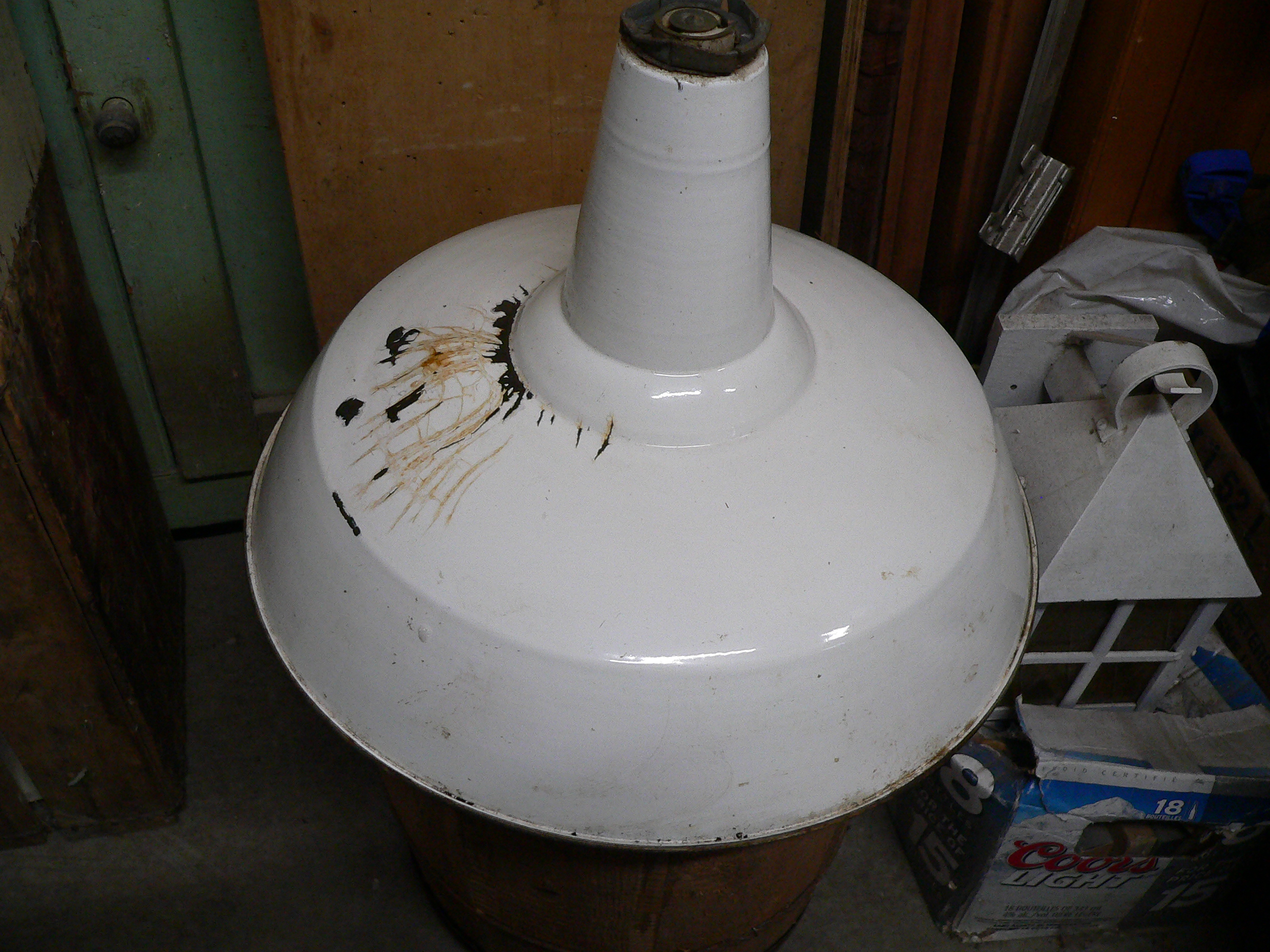 Lampe antique industriel # 6698