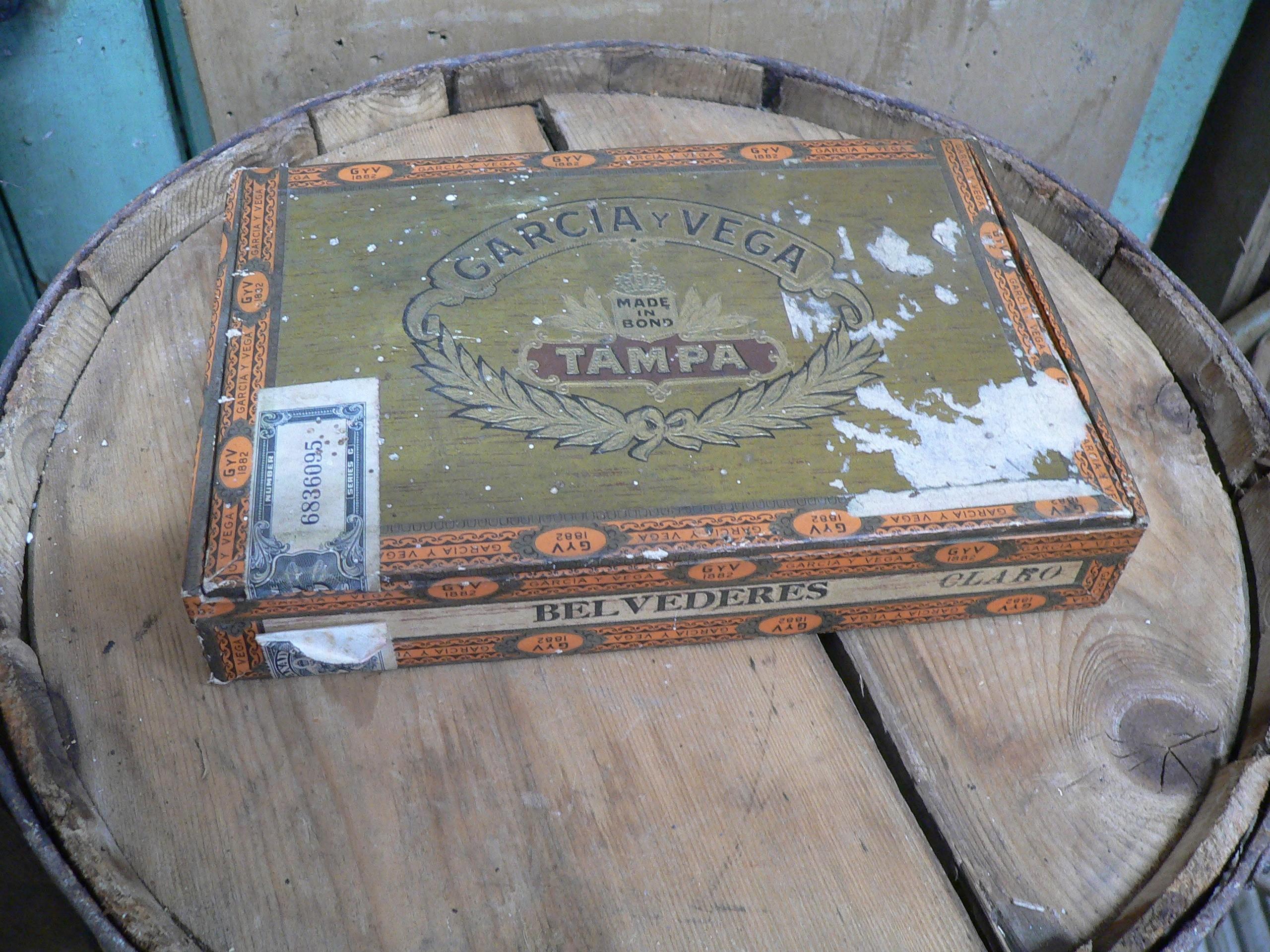 Boite de cigare antique Garcia y vega # 6854.2