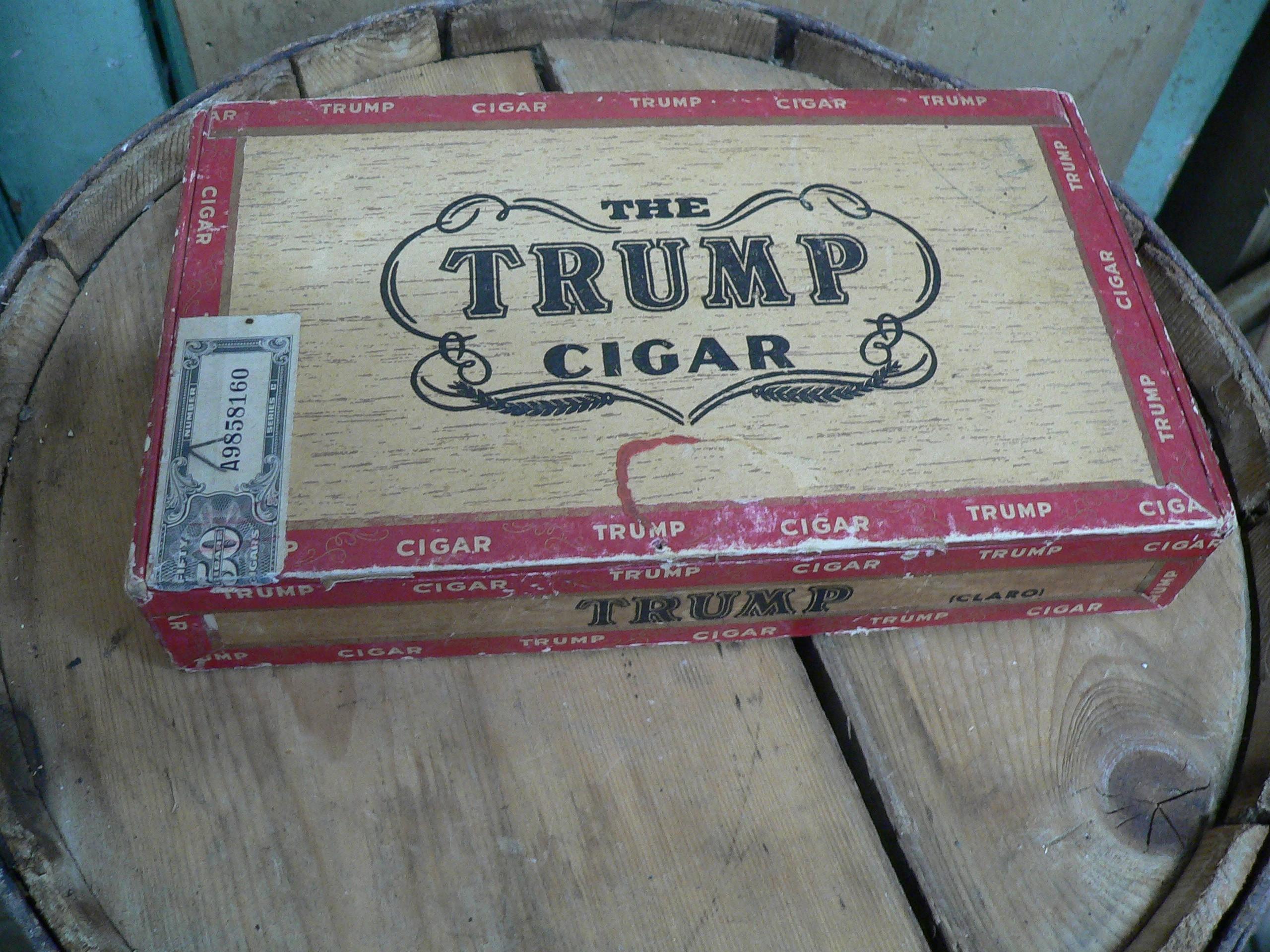 Boite de cigare antique trump # 6854.3