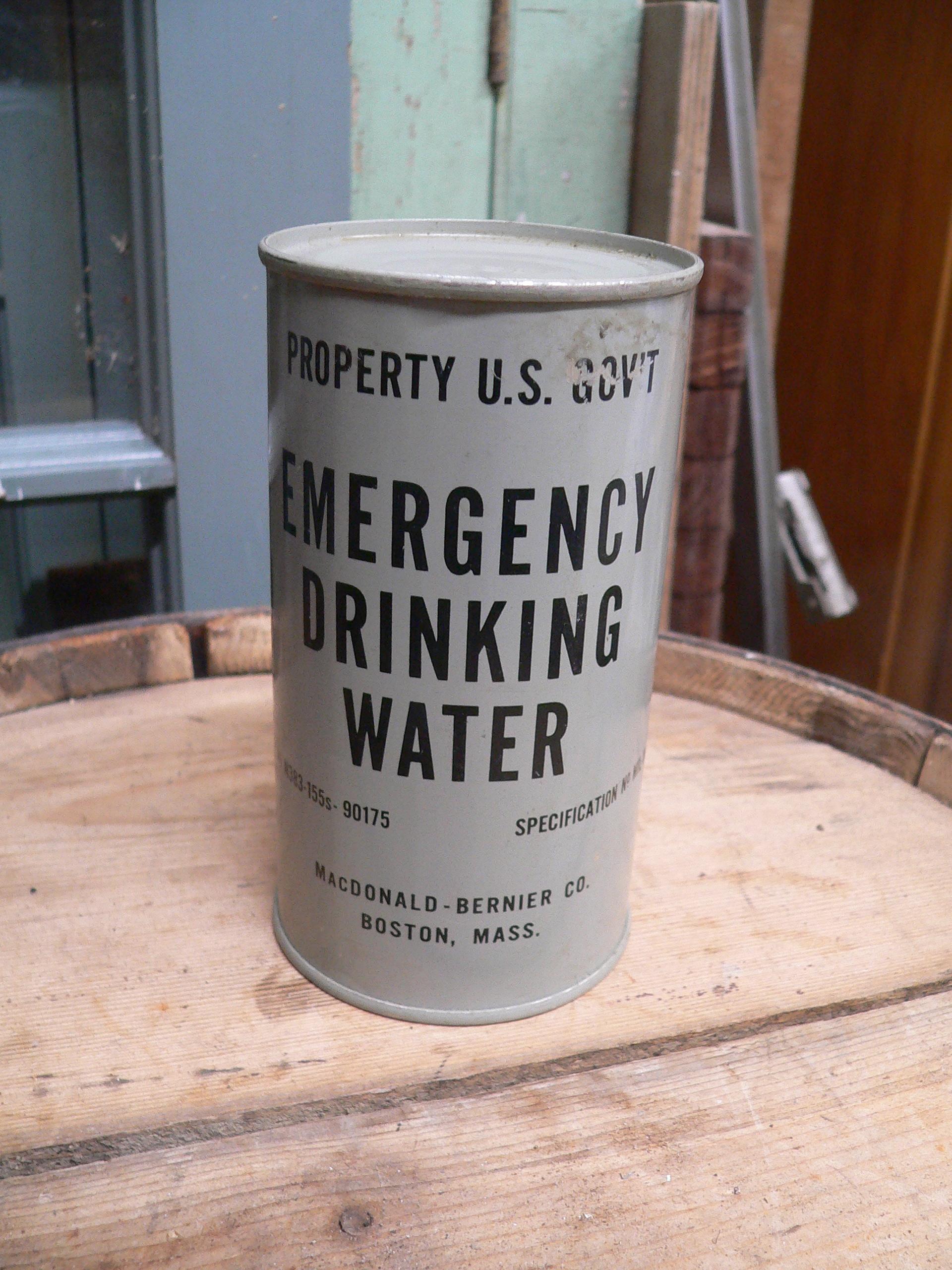 Canne antique pleine emergency drinking water # 6896