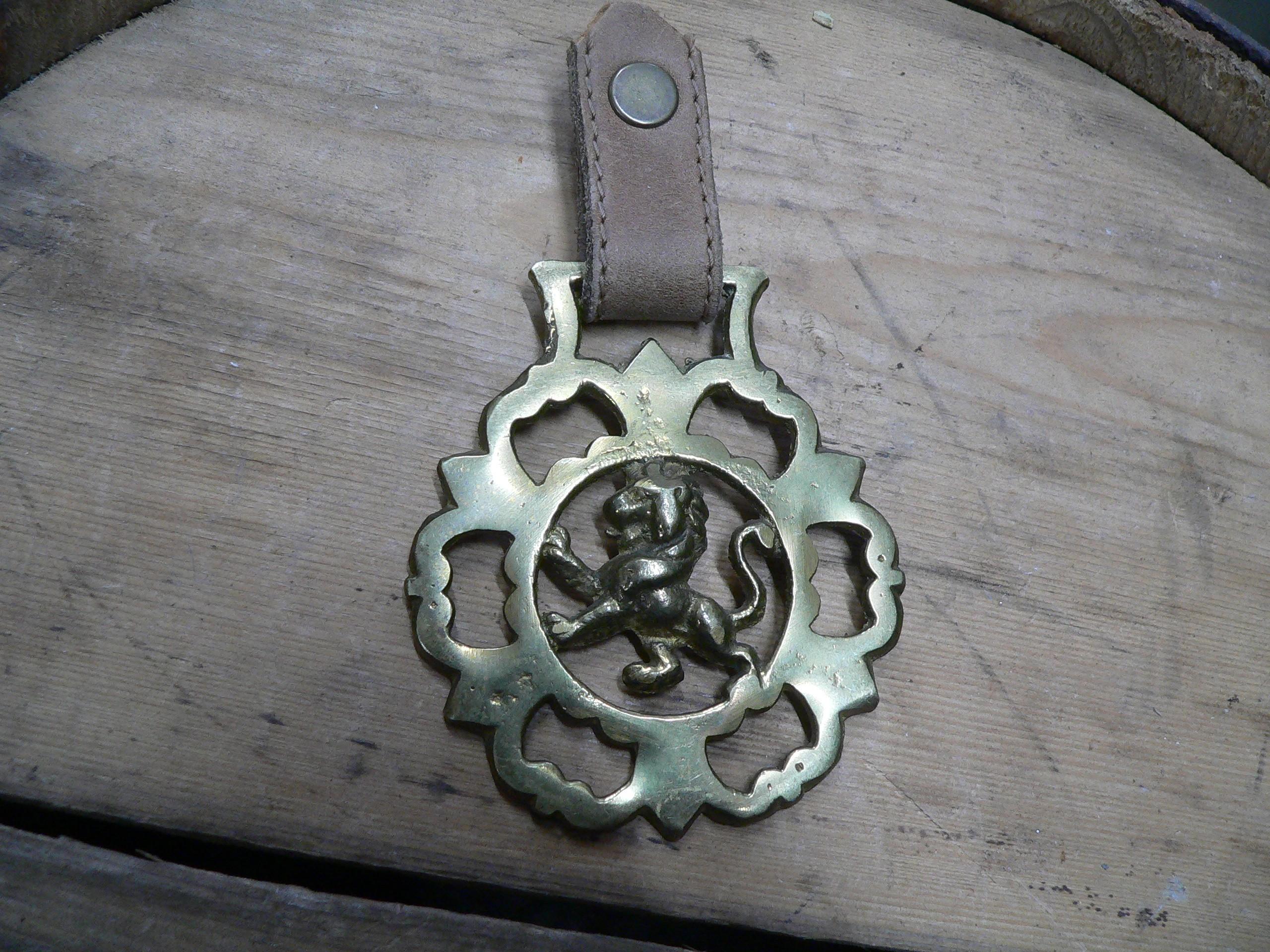 Médaille en brasse lion # 6915.4