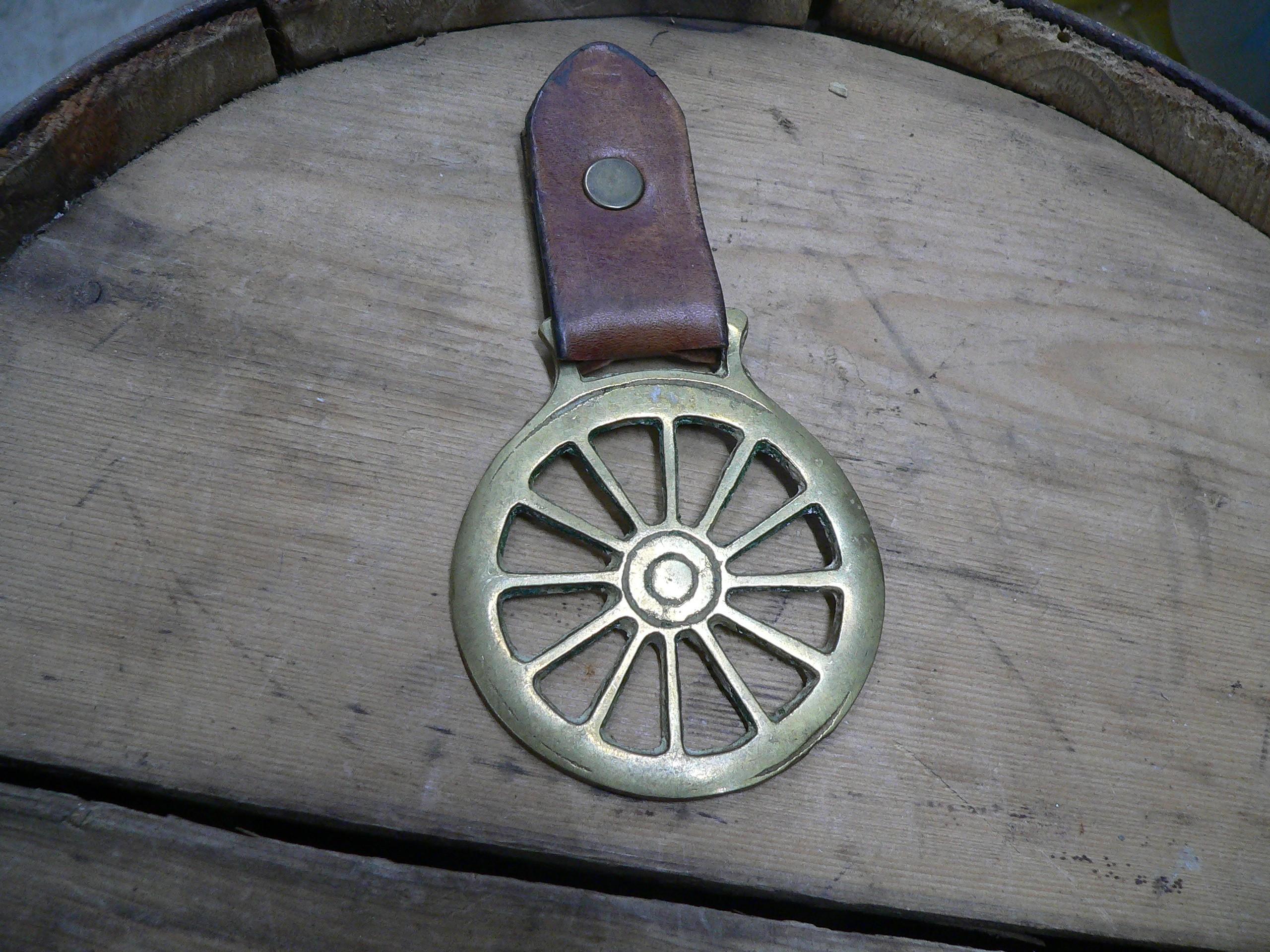 Médaille en brasse roue # 6915.5