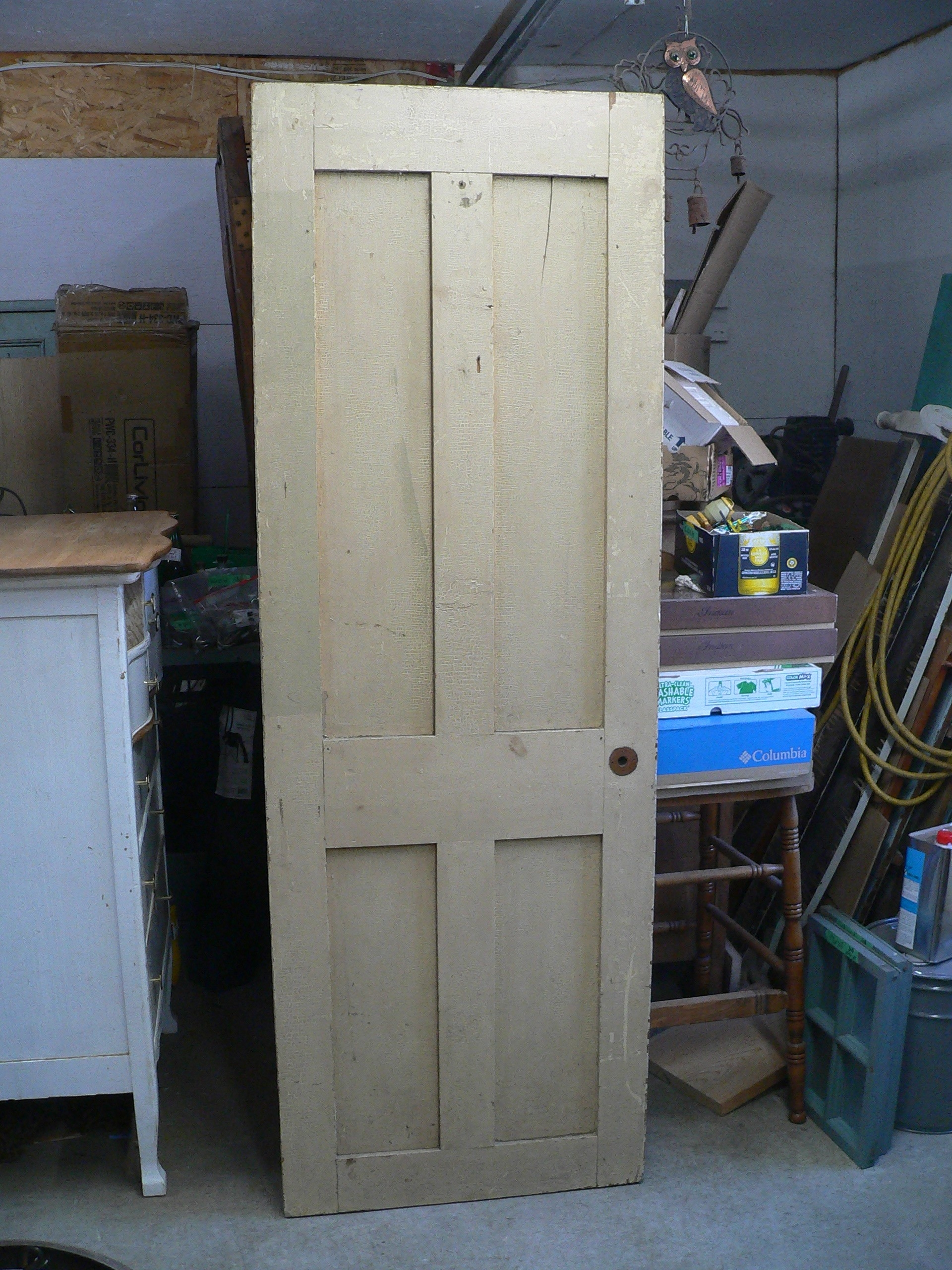 Porte antique a caisson # 6929