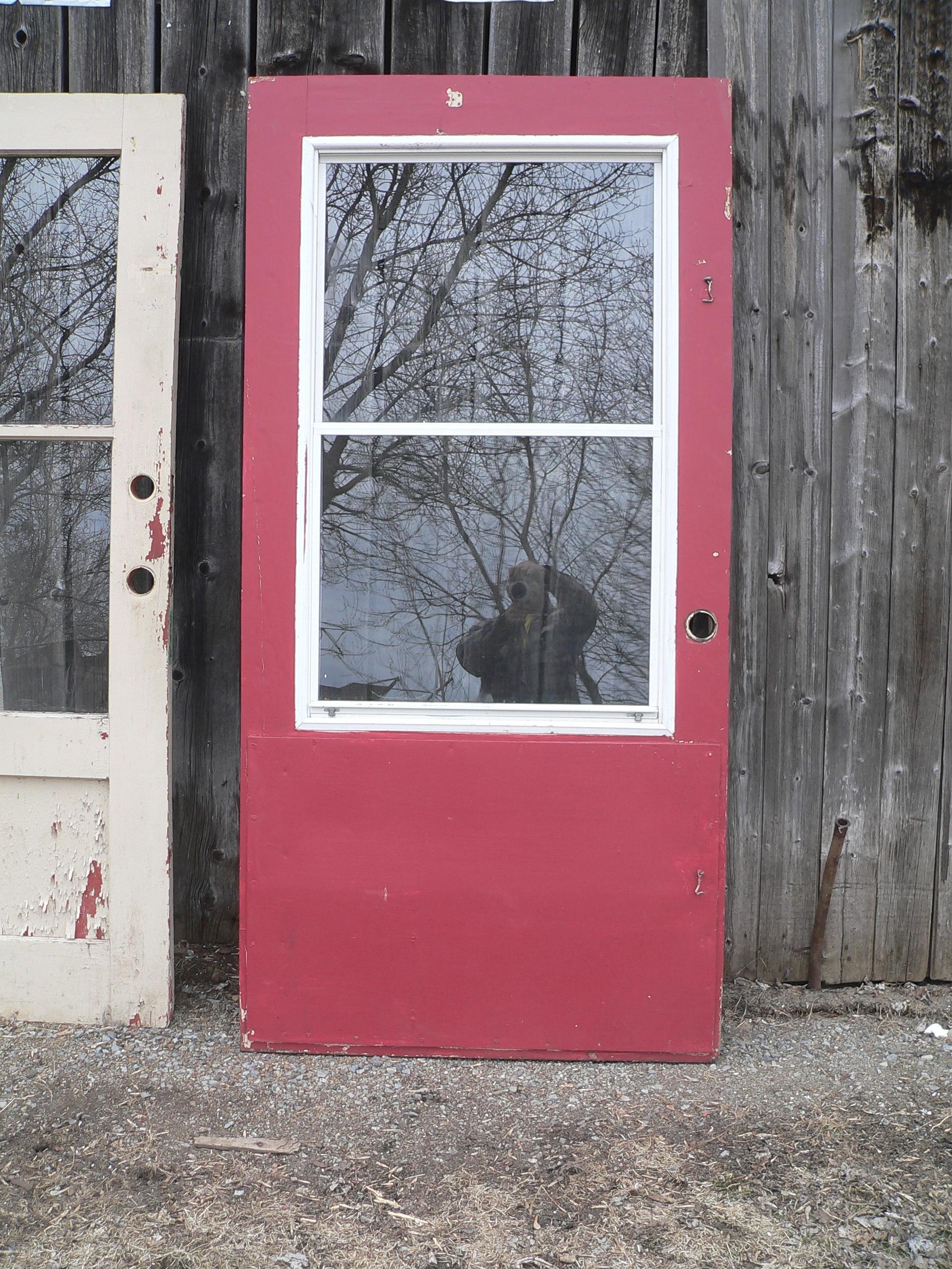 Porte vintage vitré # 6970