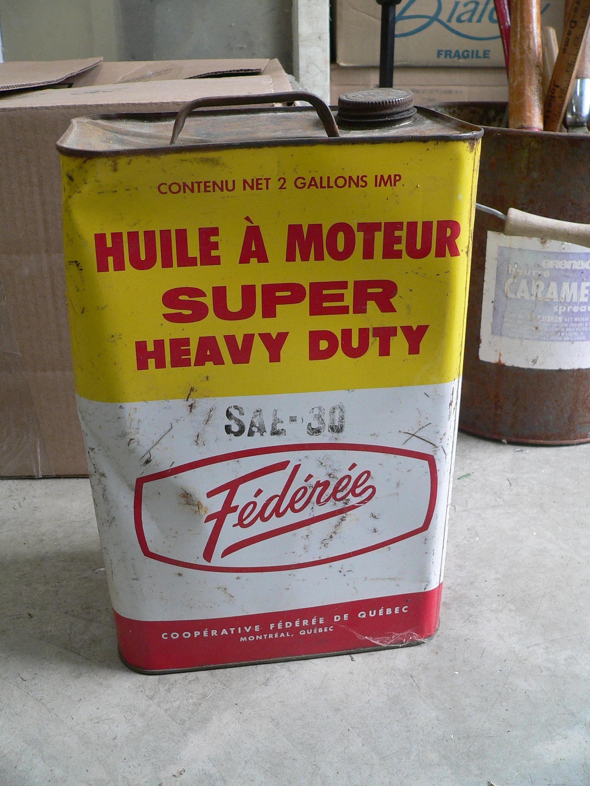 Bidon d'huile fédérée super heavy duty # 7099.3