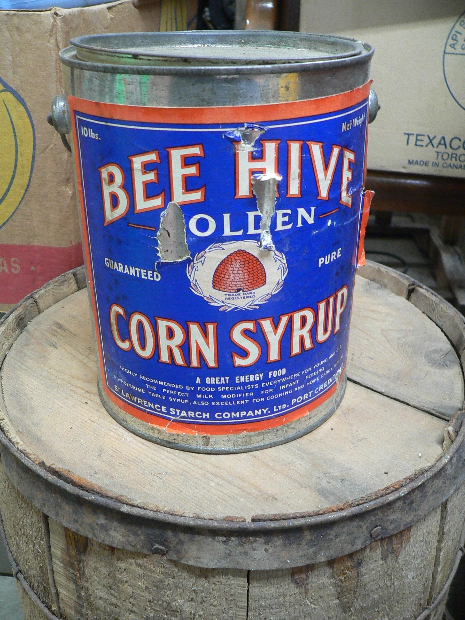 Belle canne antique bee hive golden corn syrop # 7170