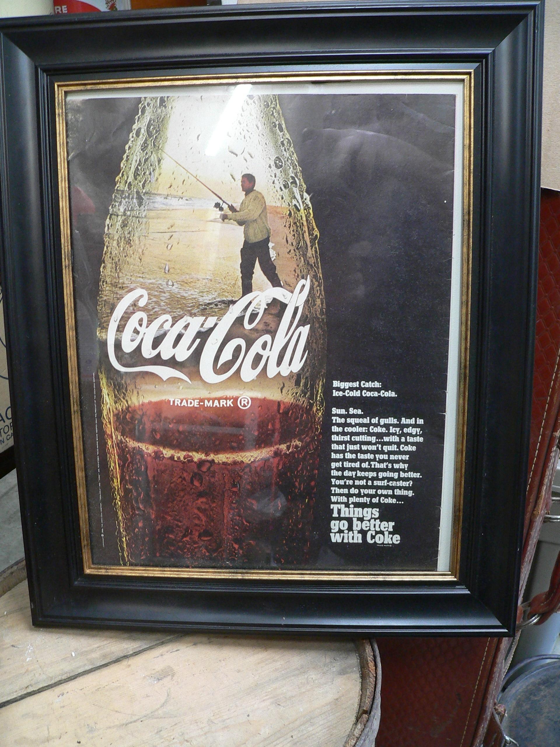 Cadre avec publicité de coca cola # 7208.2