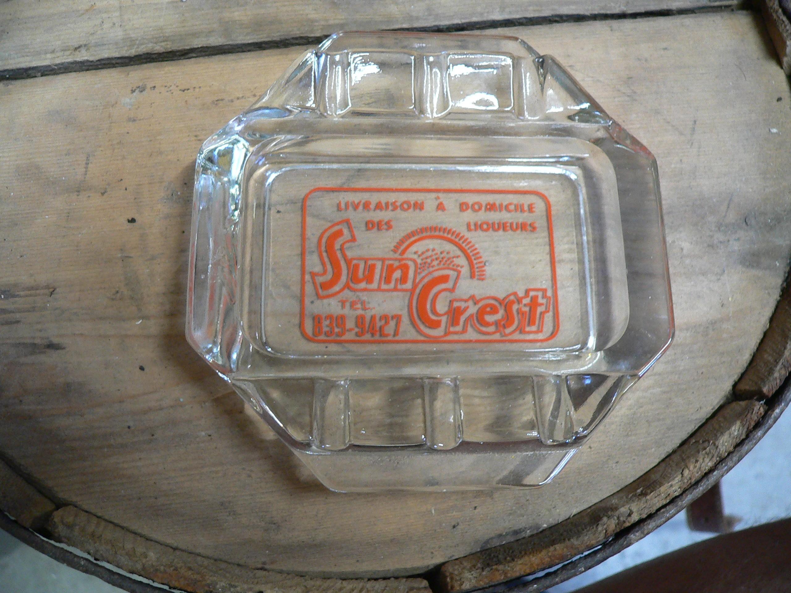 Cendrier antique sun crest # 7220.2