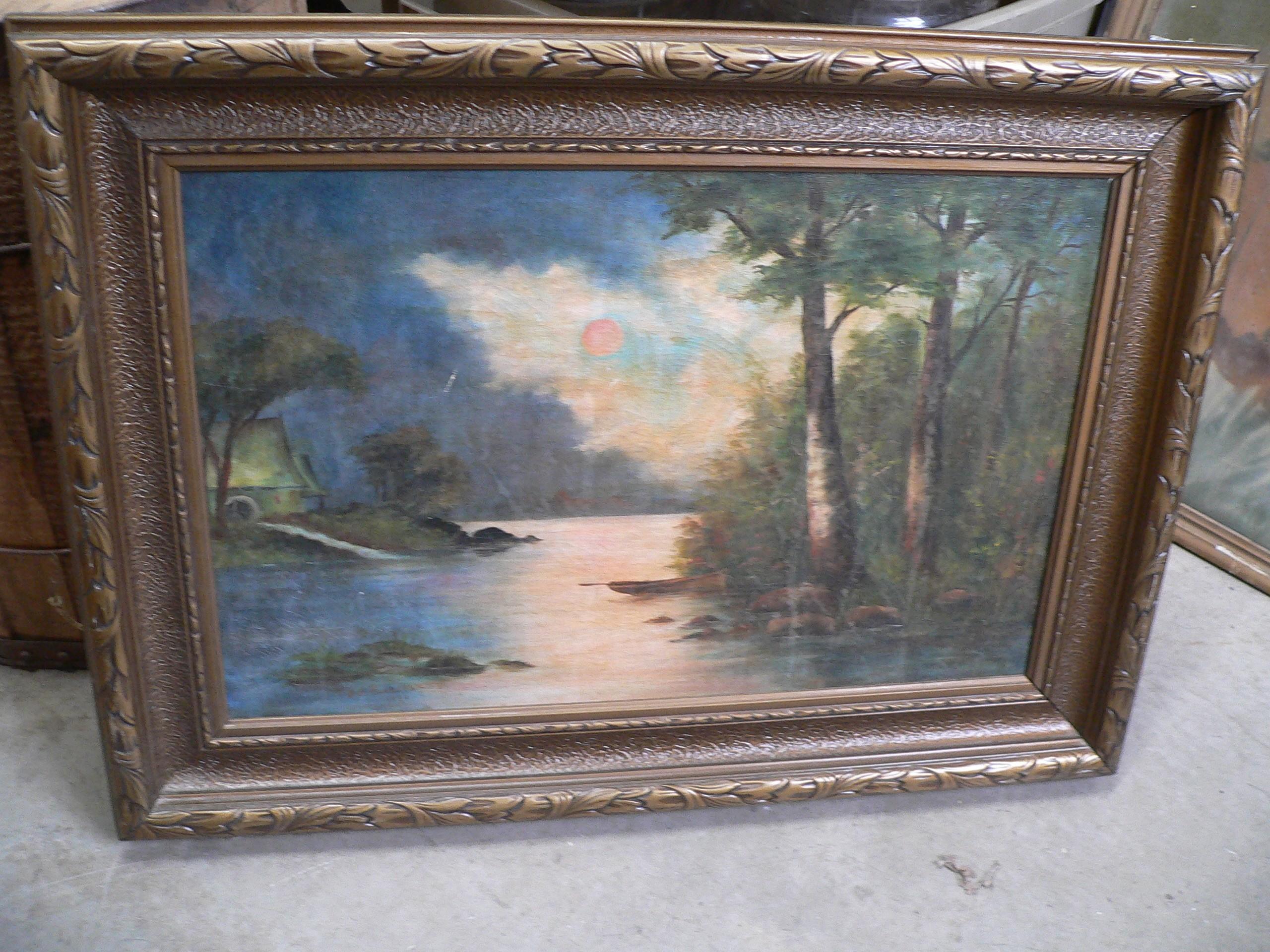 Peinture antique avec cadre # 7274.6