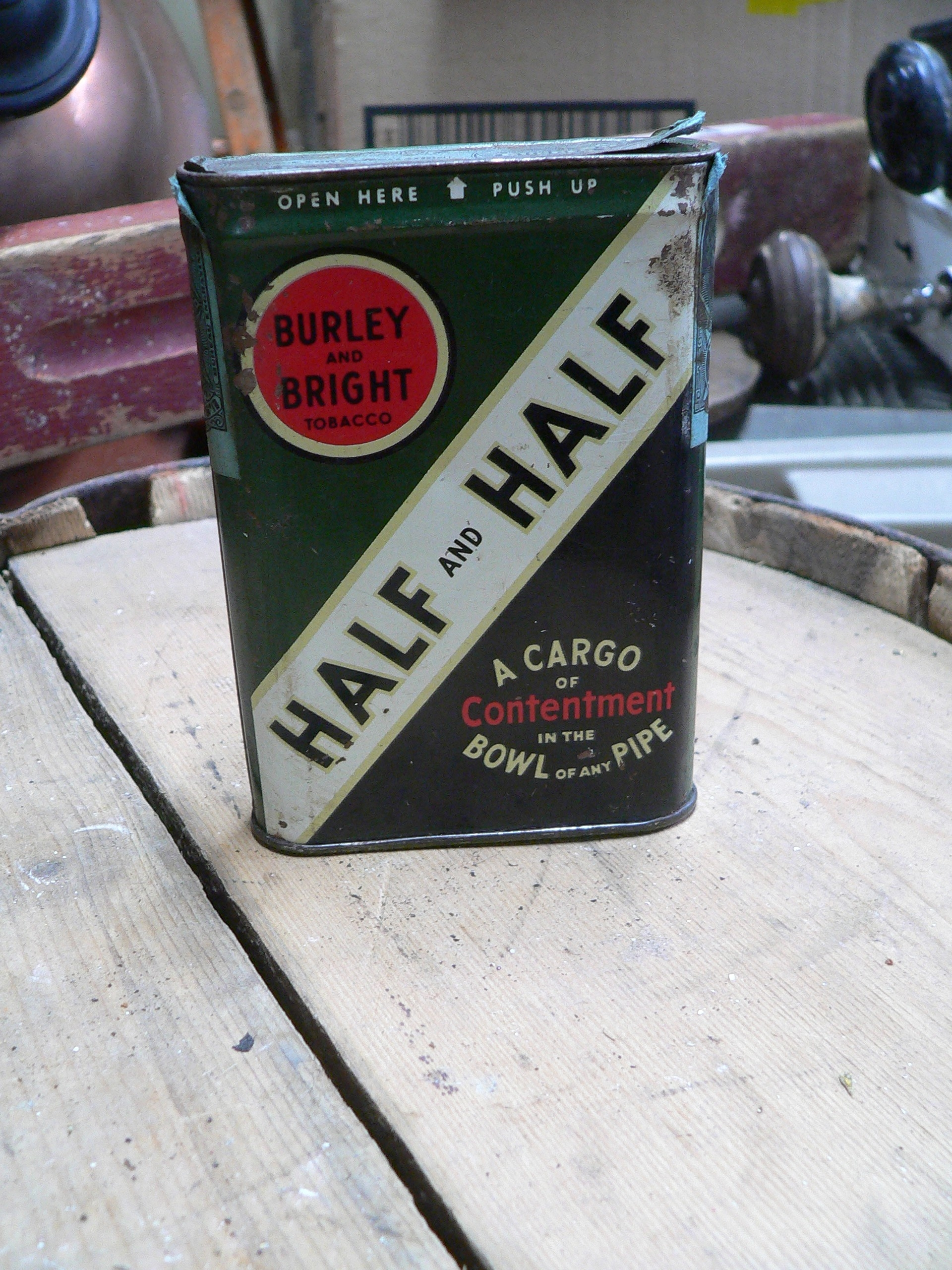 Canne antique de tabac half and half # 7311.10