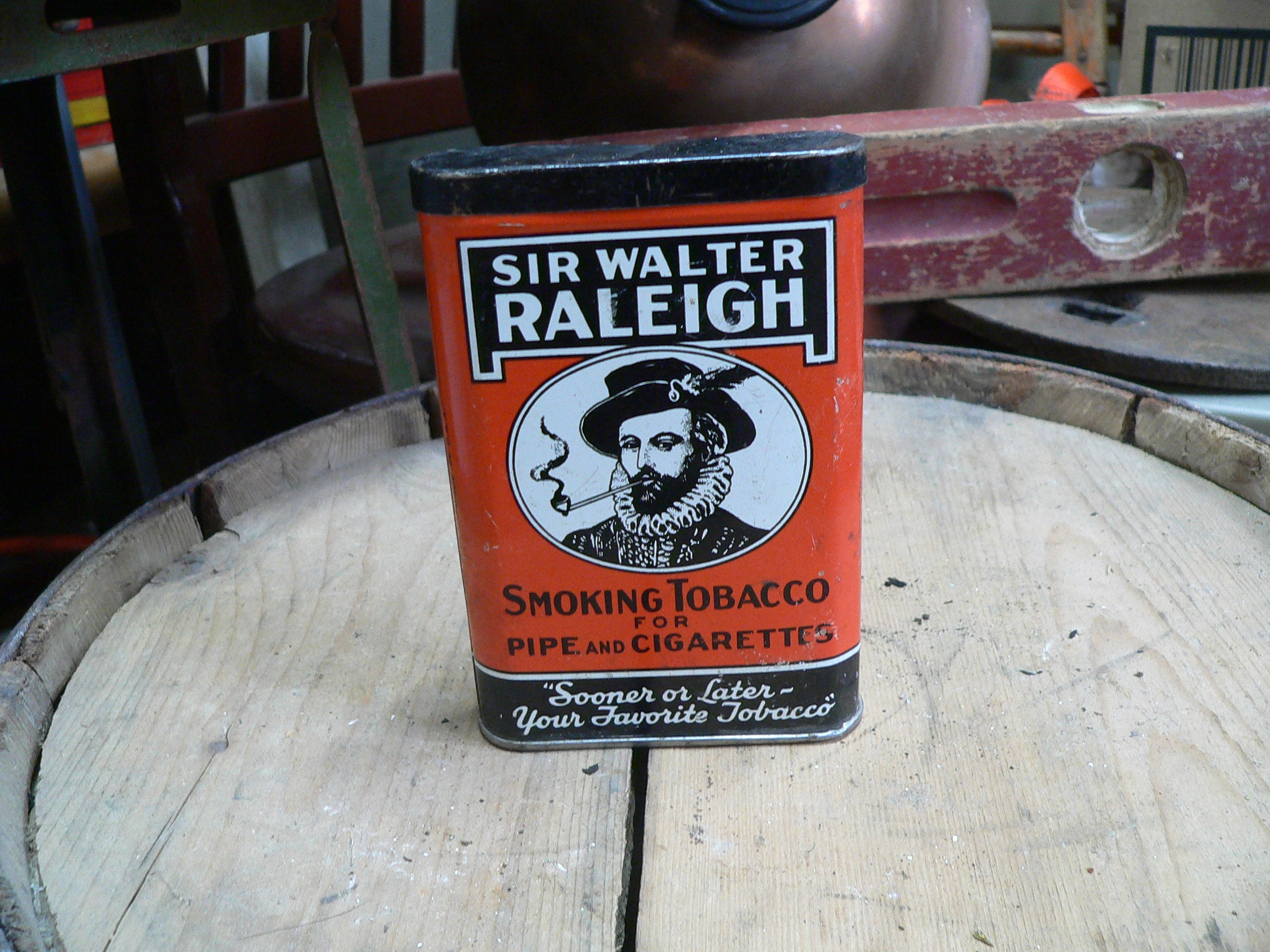 Canne de tabac antique sir walter raleigh # 7311.7