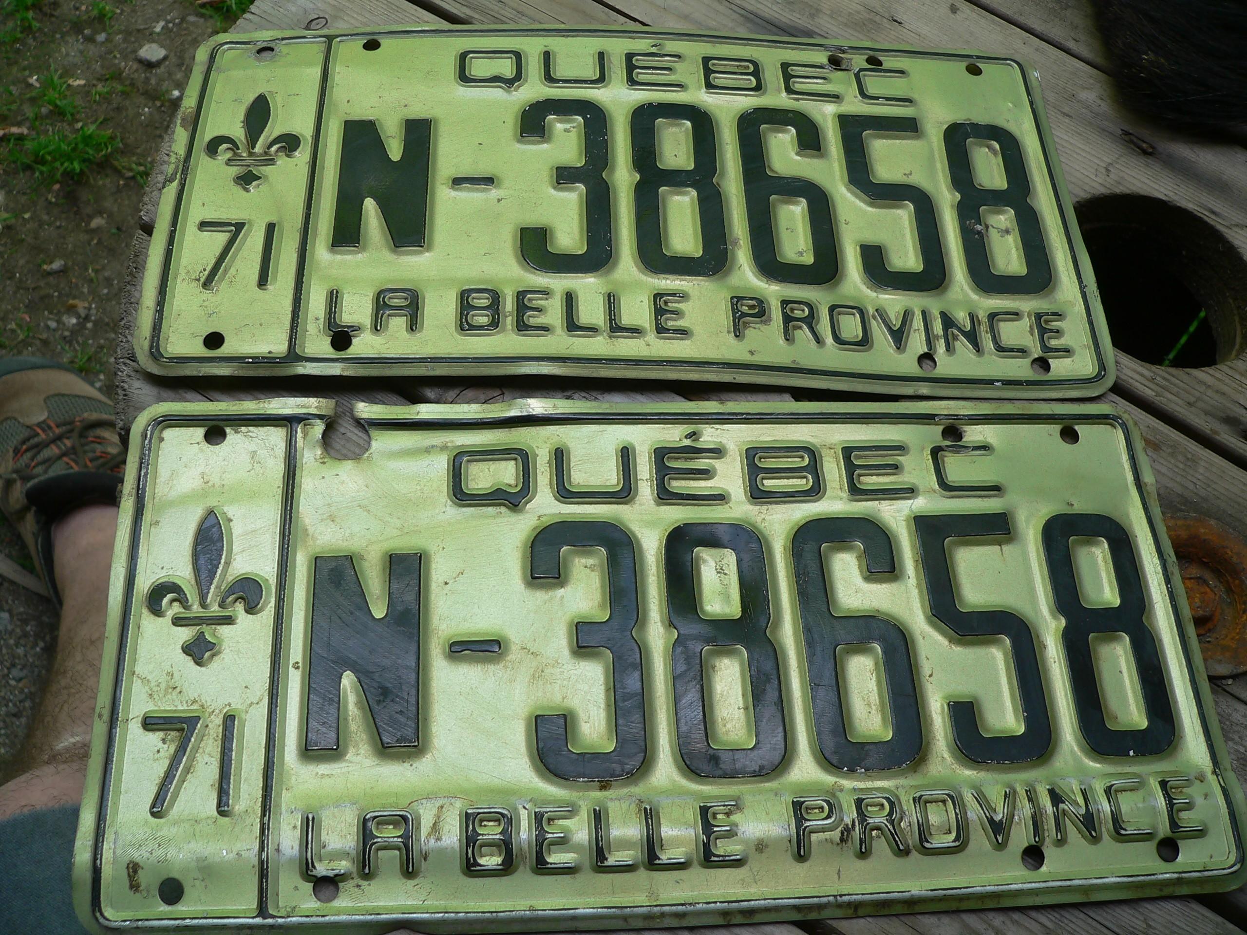 Paire de plaque 1971 # 7340.10