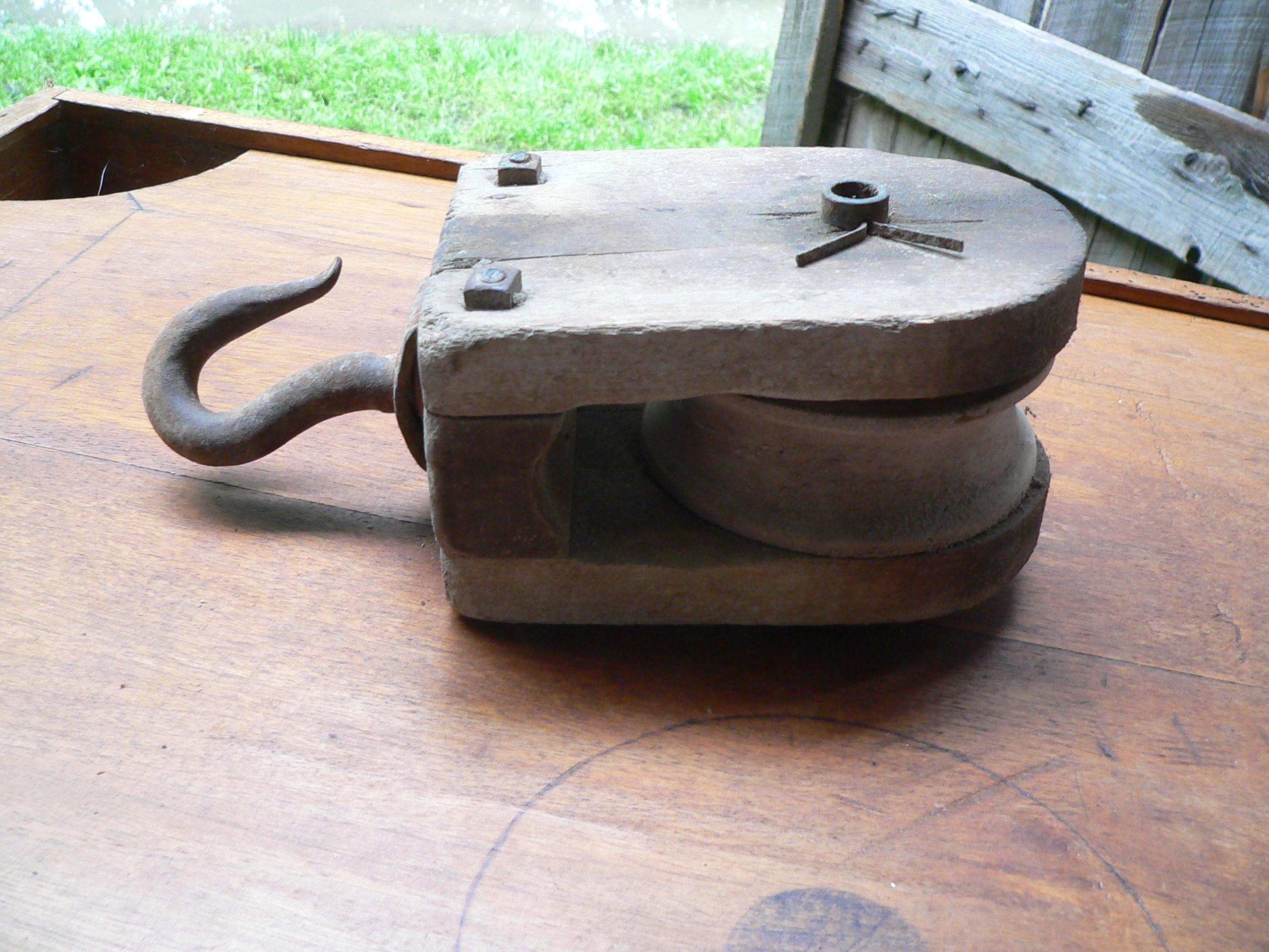 Poulie antique # 7550.3