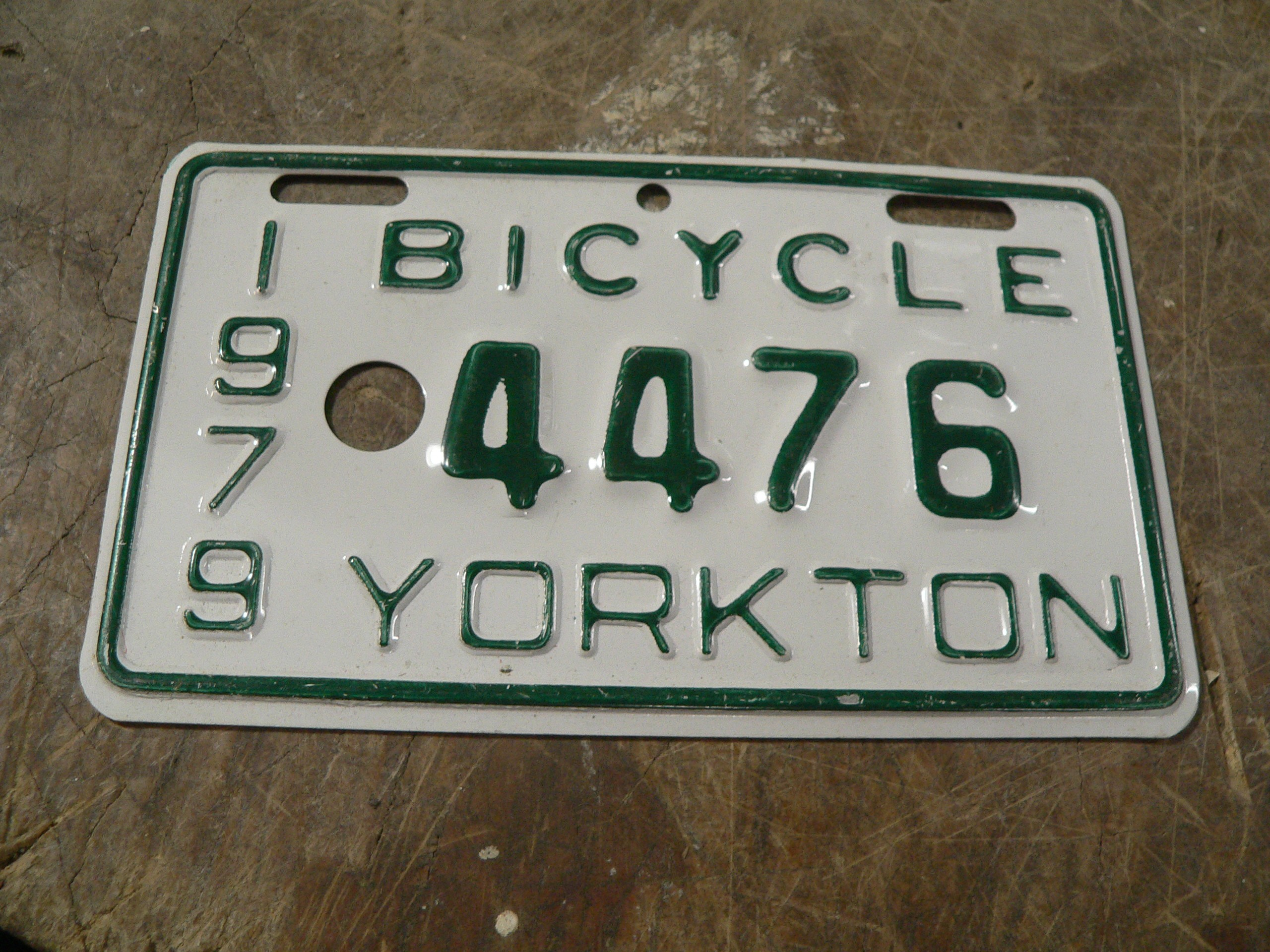 Plaque de vélo vintage # 7901