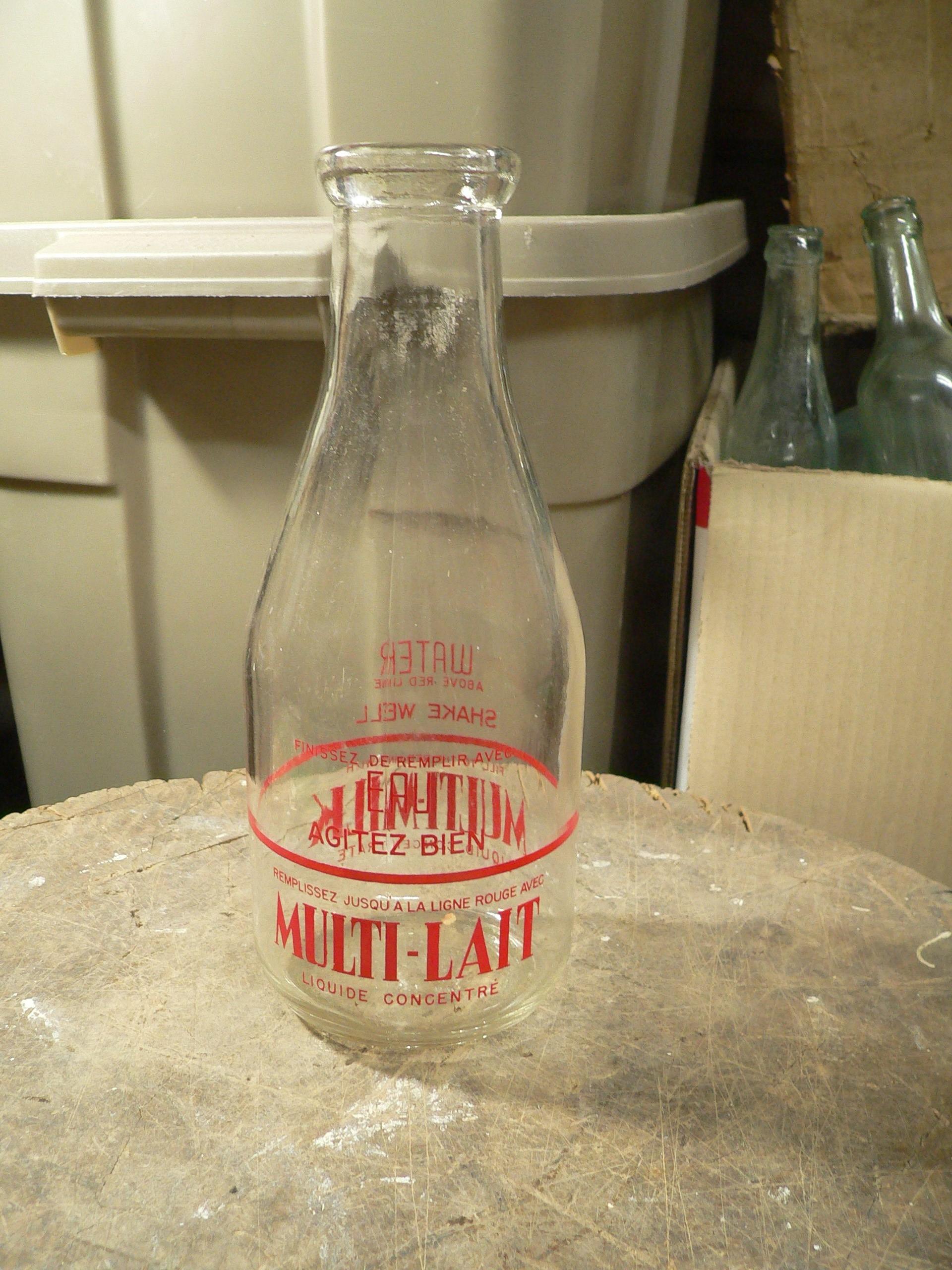 Bouteille antique de lait multi-lait # 7934