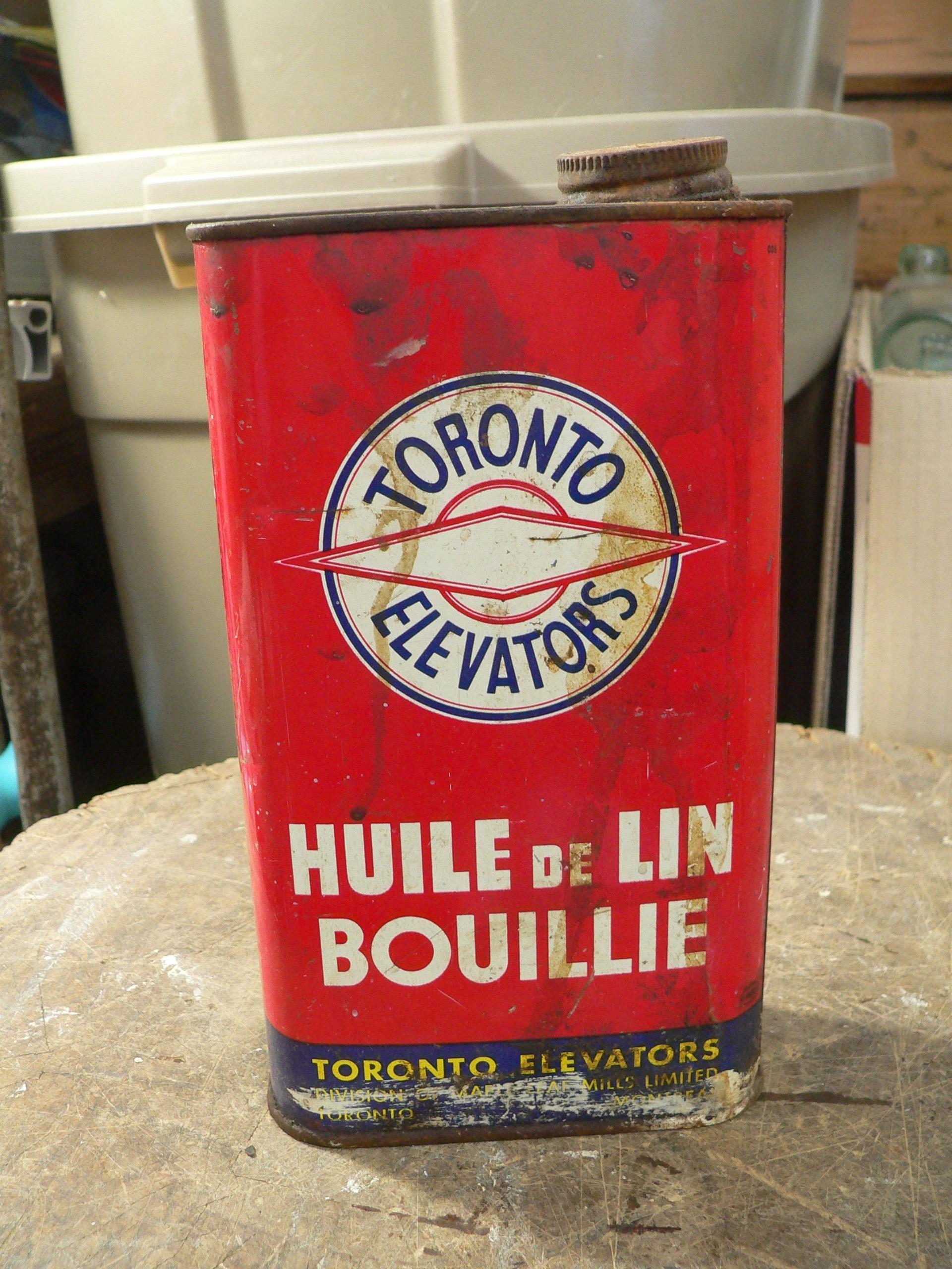 Canne d'huile de lin Toronto Elevator # 8103.4