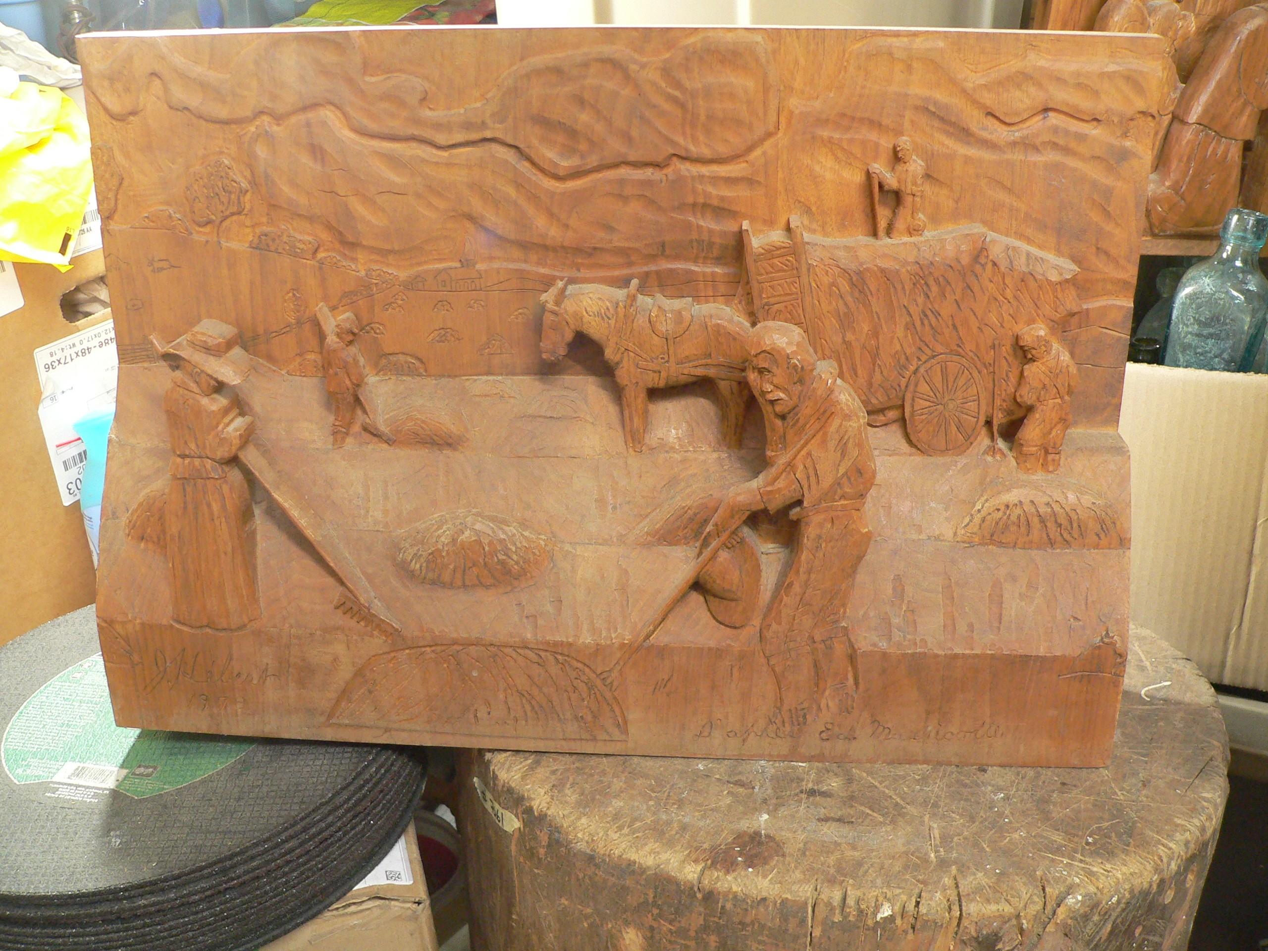 Très beau cadre sculpter 3d vintage # 8141.1
