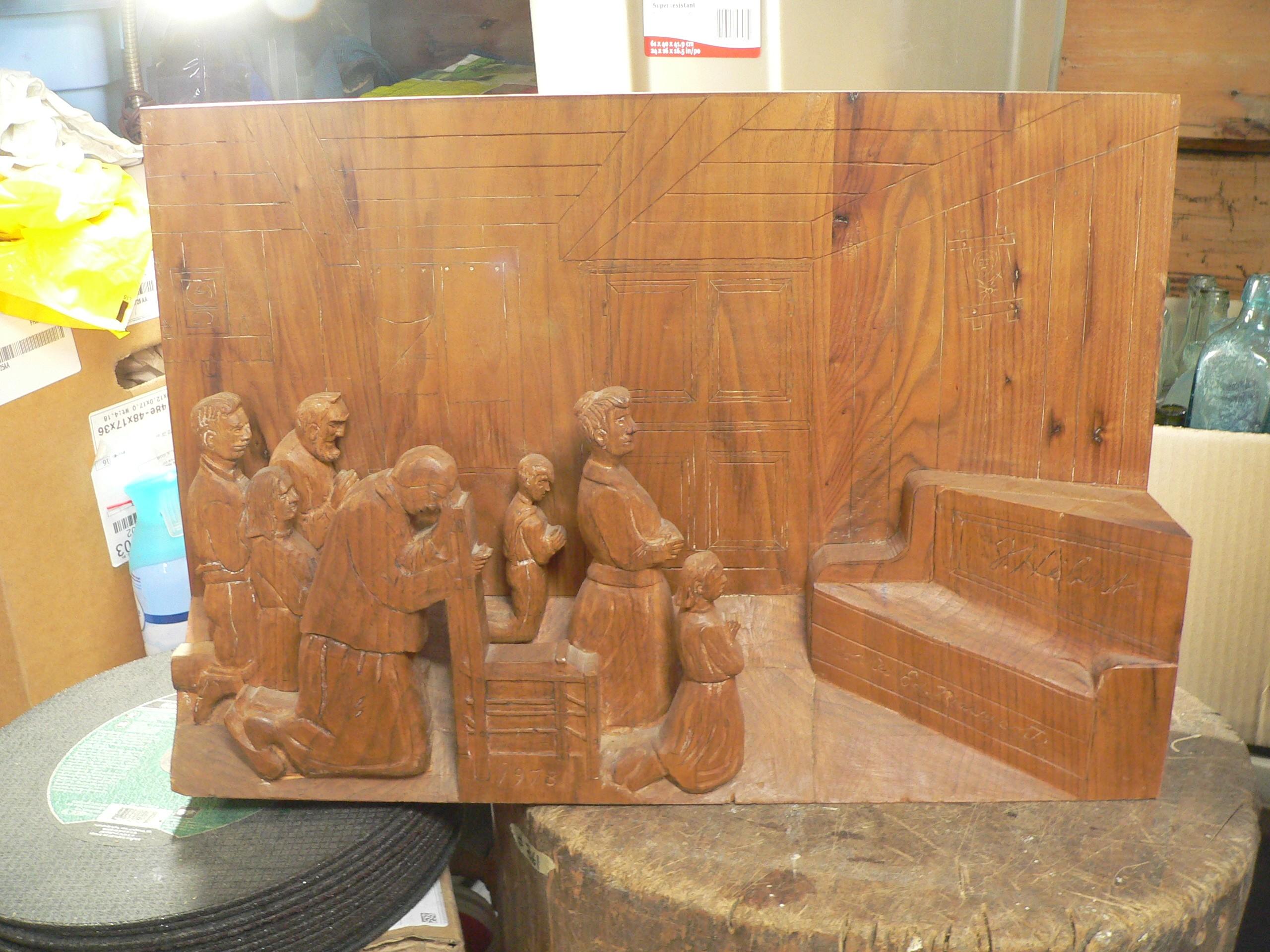 Très beau cadre sculpter 3d vintage # 8141.2