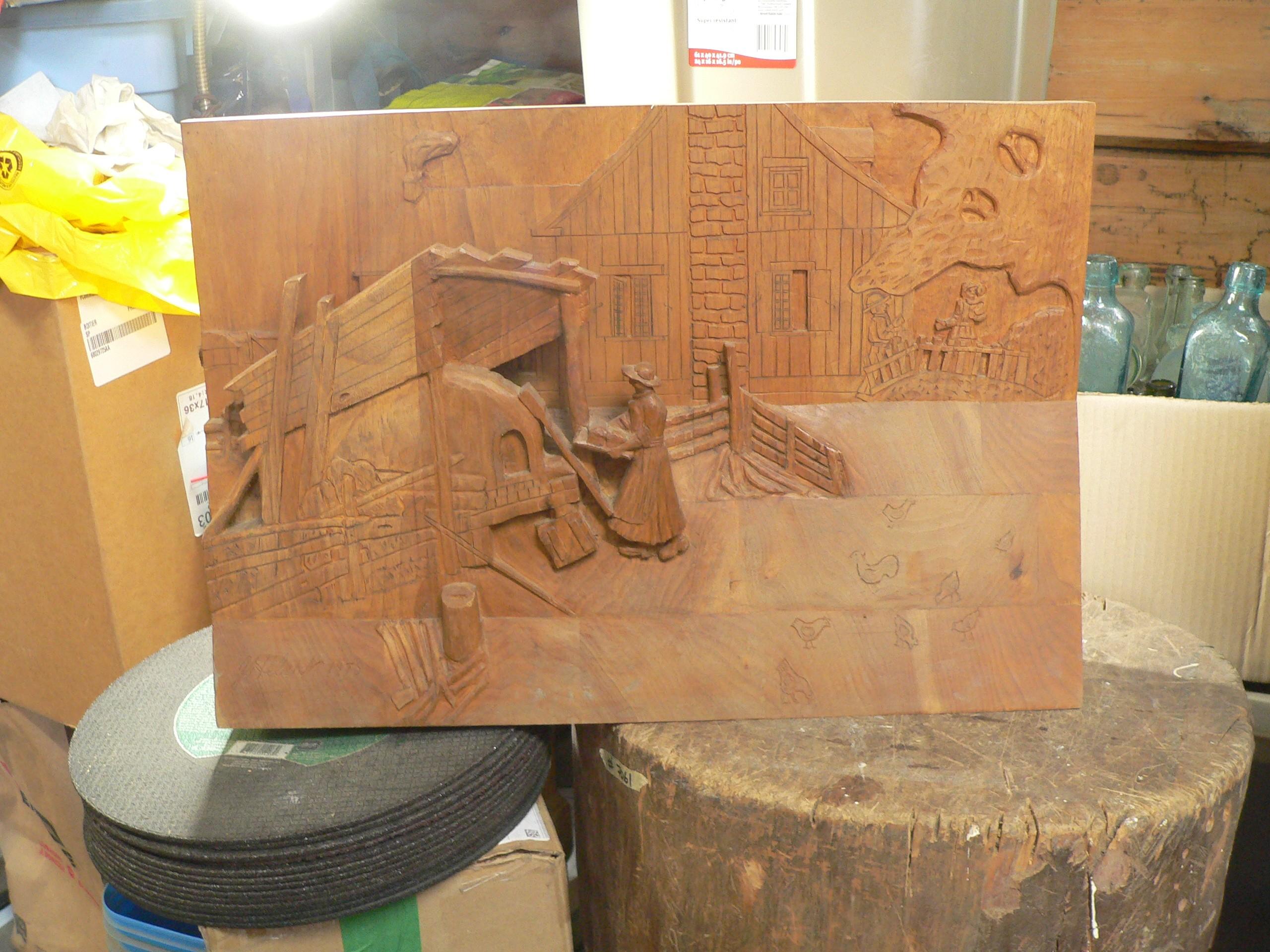 Très beau cadre sculpter 3d vintage # 8141.3